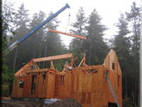 Guest Cottage Construction on Whidbey Island